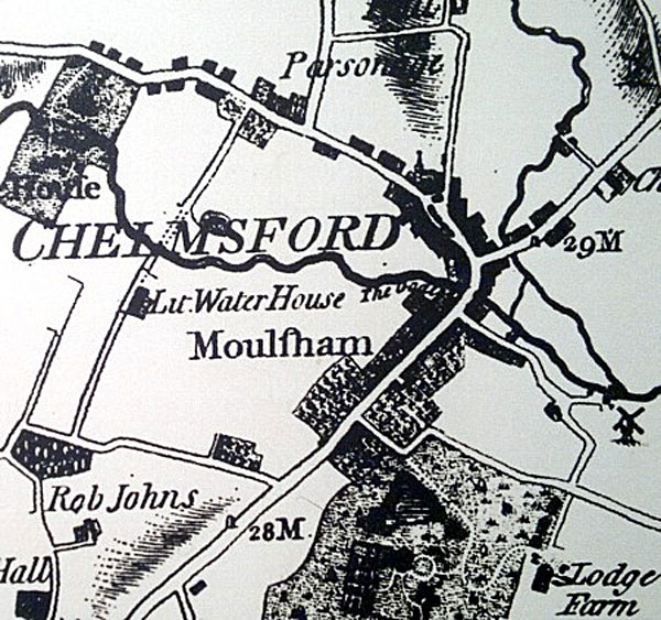 Map of Chelmsford 1777